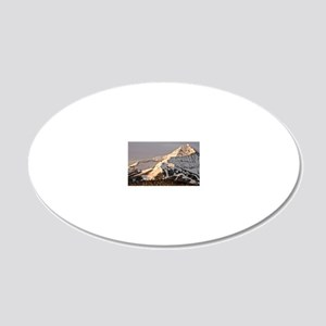 The Lonely Mountain 20x12 Oval Wall Decal