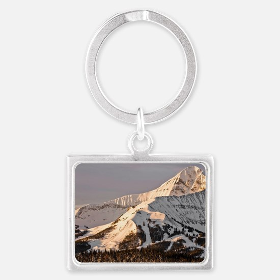 The Lonely Mountain Landscape Keychain