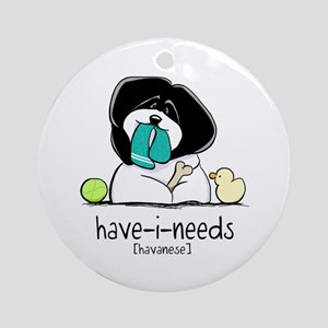 Have-i-Needs Havanese Ornament (Round)