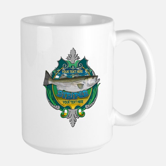 Personalized Striper Large Mug