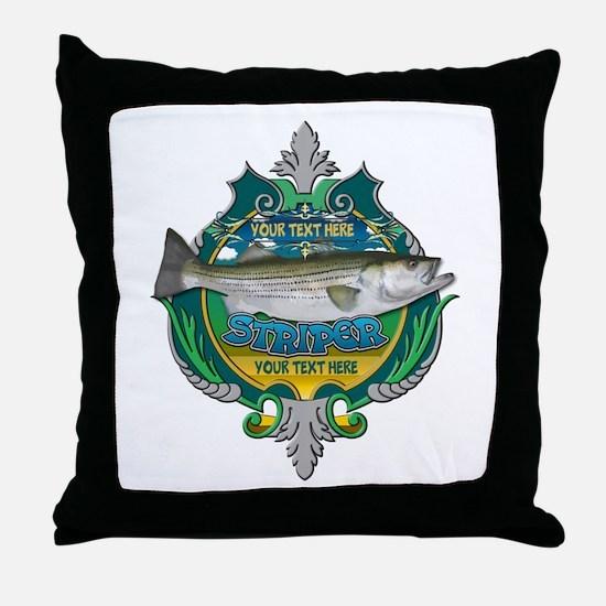 Personalized Striper Throw Pillow