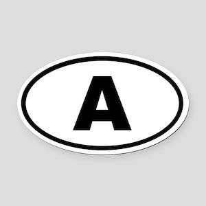 Austria A Oval Car Magnet