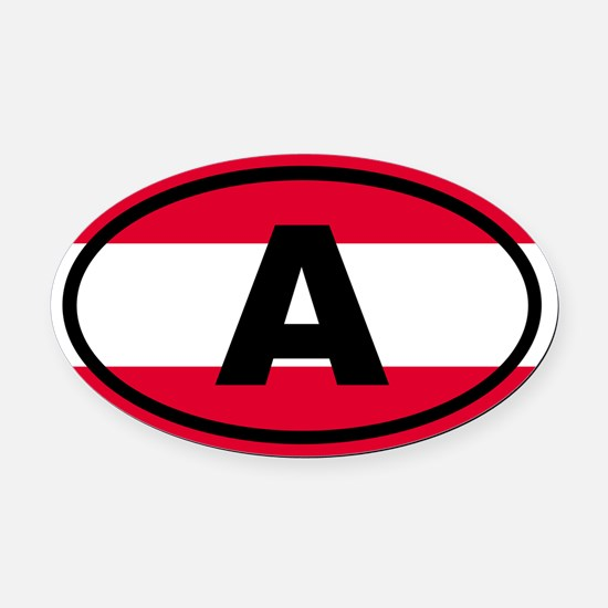 Austria Flag Oval Car Magnet