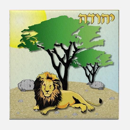 12 Tribes Israel Judah Tile Coaster