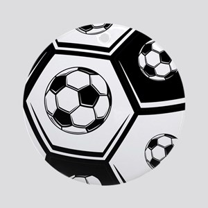 Love Soccer Ornament (Round)