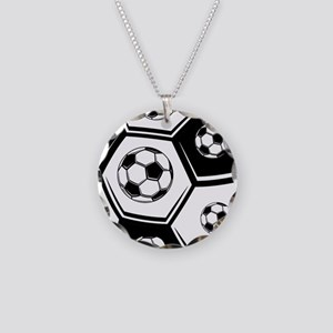 Love Soccer Necklace Circle Charm