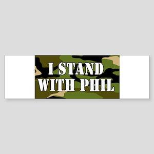 CAMO I Stand With Phil (robertson) Bumper Sticker