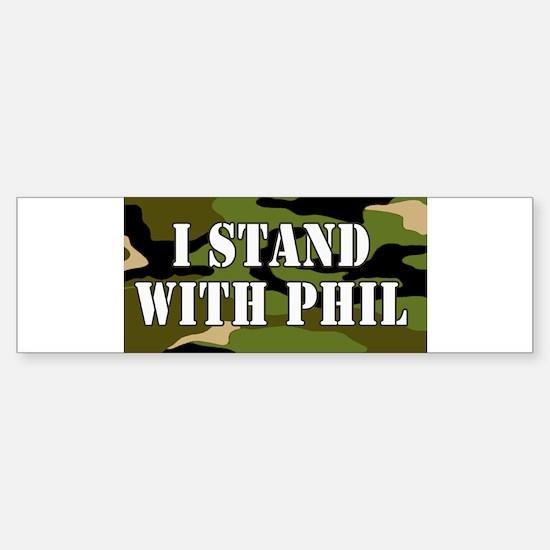 CAMO I Stand With Phil (robertson) Bumper Bumper Bumper Sticker