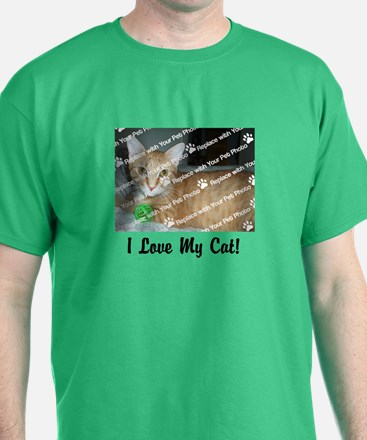 CUSTOMIZE Add Photo Love Cat T-Shirt