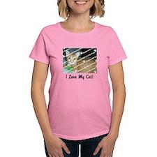 CUSTOMIZE Add Photo Love Cat T-Shirt