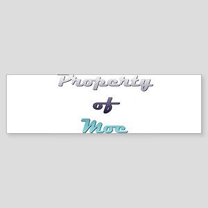 Property Of Moe Male Bumper Sticker