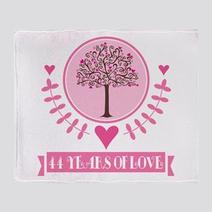 44th Anniversary Love Tree Throw Blanket