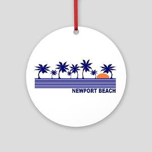 Newport Beach, California Ornament (Round)
