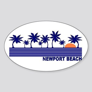 Newport Beach, California Oval Sticker