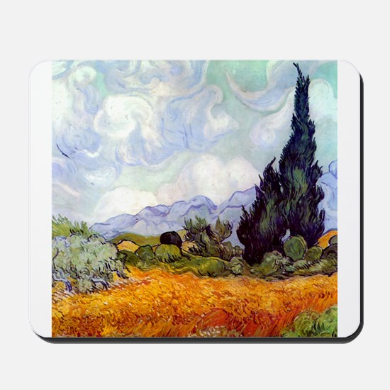 Van Gogh Wheat Field with Cypresses Mousepad