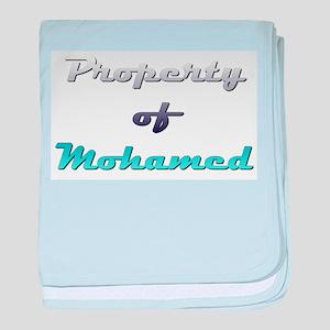 Property Of Mohamed Male baby blanket
