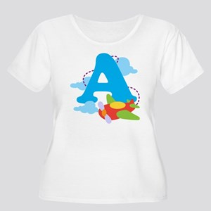 A is for Airp Women's Plus Size Scoop Neck T-Shirt
