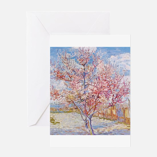 Van Gogh Peach Trees in Blossom Greeting Cards