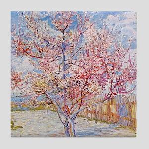 Van Gogh Peach Trees in Blossom Tile Coaster