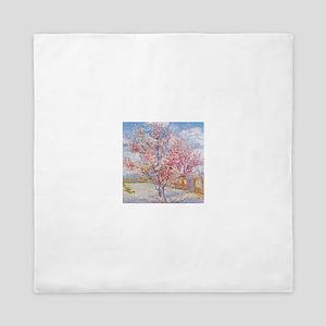 Van Gogh Peach Trees in Blossom Queen Duvet