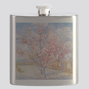 Van Gogh Peach Trees in Blossom Flask