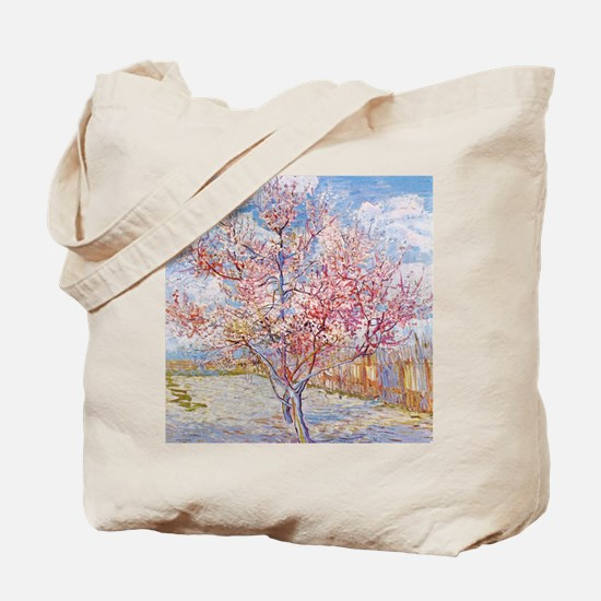 Van Gogh Peach Trees in Blossom Tote Bag