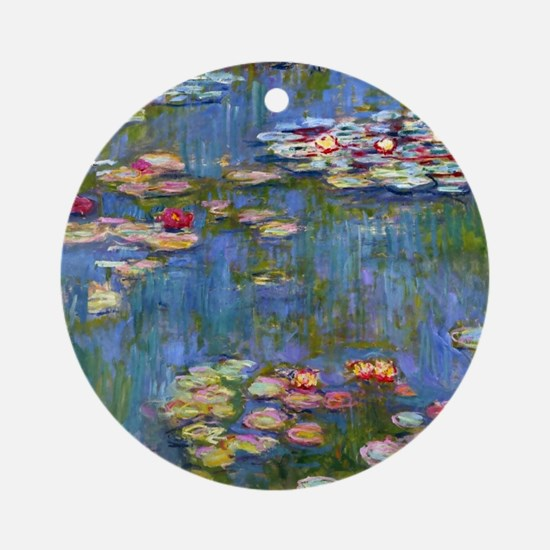 Monet Water lilies Ornament (Round)