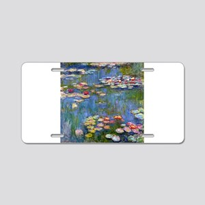 Monet Water lilies Aluminum License Plate