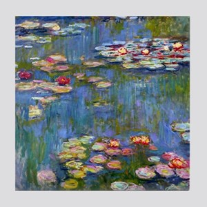 Monet Water lilies Tile Coaster