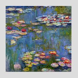 Monet Water lilies Tile Coaster