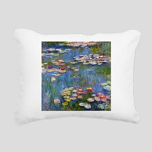 Monet Water lilies Rectangular Canvas Pillow