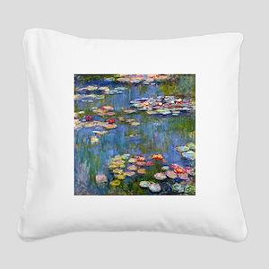 Monet Water lilies Square Canvas Pillow