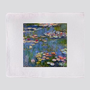 Monet Water lilies Throw Blanket