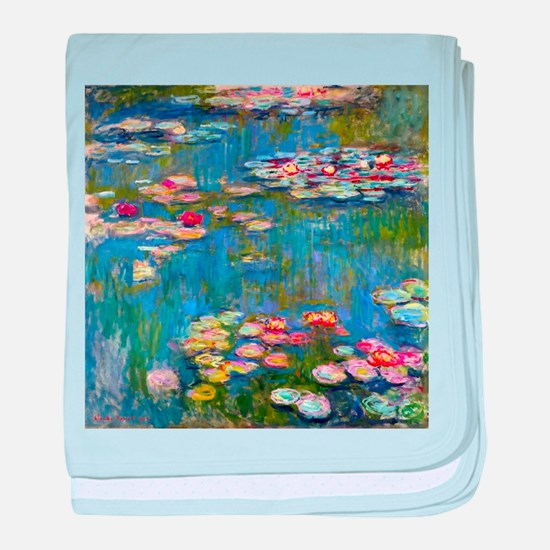 Monet Water lilies baby blanket