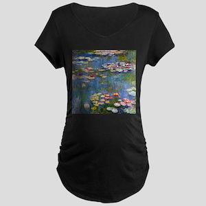Monet Water lilies Maternity T-Shirt
