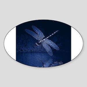 Blue Dragonfly at Night Sticker