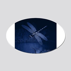 Blue Dragonfly at Night Wall Decal