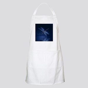Blue Dragonfly at Night Apron