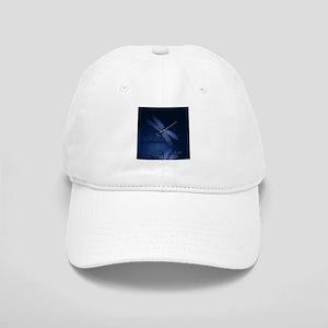 Blue Dragonfly at Night Baseball Cap