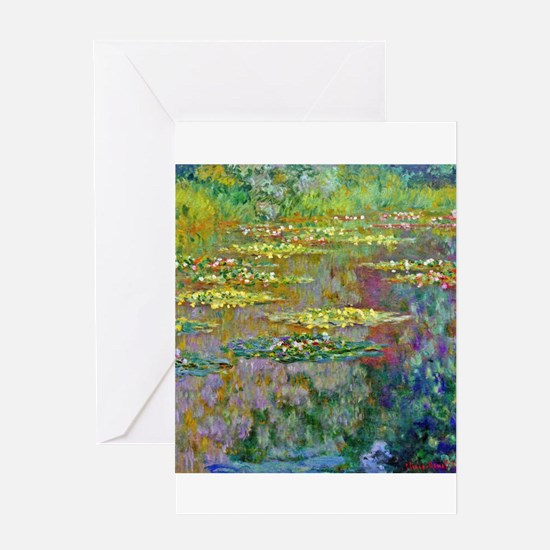 Water lilies by Claude Monet Greeting Cards