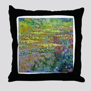 Water lilies by Claude Monet Throw Pillow