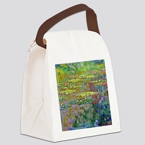 Water lilies by Claude Monet Canvas Lunch Bag