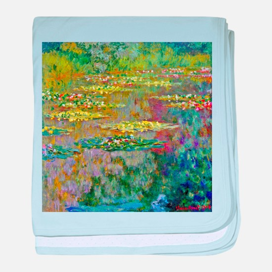Water lilies by Claude Monet baby blanket
