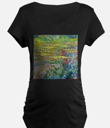 Water lilies by Claude Monet Maternity T-Shirt