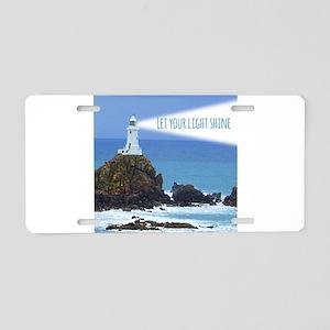 Let your Light Shine Aluminum License Plate
