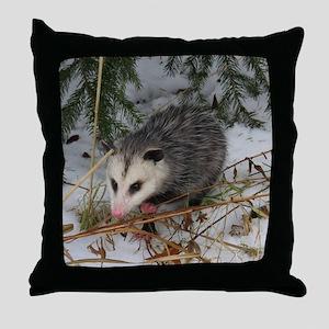 Baby Possum Throw Pillow