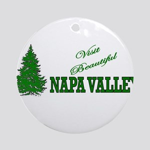 Visit Beautiful Napa Valley, Ornament (Round)