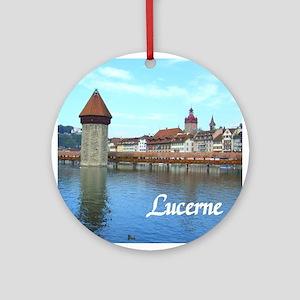 Lucerne souvenir Ornament (Round)