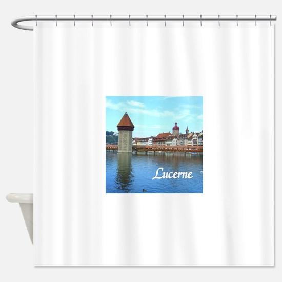 Lucerne souvenir Shower Curtain