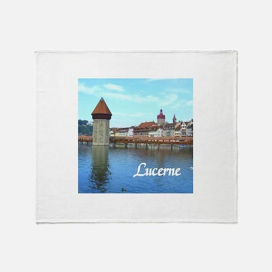 Lucerne souvenir Throw Blanket